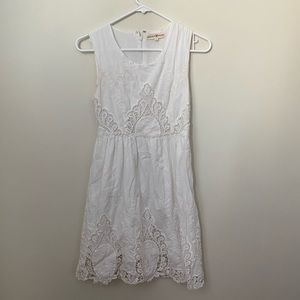 Altar'd State Medium White lace cut out dress